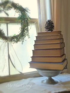 Book Christmas tree. Cute.