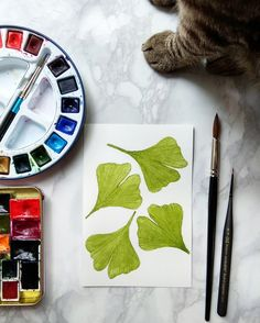 #ginkgo #watercolor #painting