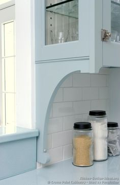 Traditional Blue Kitchen Cabinets #15 (Crown-Point.com, Kitchen-Design-Ideas.org)