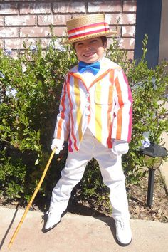 Items similar to Mary Poppins Bert Costume Cosplay Custom Made Stripe Suit Coat Jolly Holiday Scene Blue Bow Tie and Hat Tie Band on Etsy Holiday Hats, Holiday Costumes, Diy Costumes, Halloween 2014, Halloween Costumes For Kids, Mary Poppins And Bert Costume, Mary Poppins Jolly Holiday, Hat Display, Blue Bow Tie