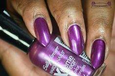 Plum Power Sally Hansen, Plum, Swatch, Nail Polish, Nail Art, Nails, How To Wear, Finger Nails, Ongles