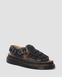 8092 LEATHER FISHERMAN SANDALS | Women's Boots, Shoes & Sandals | Dr. Martens Official Dr. Martens, Sandals Outfit, Shoes Sandals, Goodyear Welt, Unisex, Me Too Shoes, Footwear, Brown, Leather
