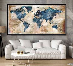 Detailed World Map Travel Map of the World Map Push Pin Travel Map withWorld Map for Traveling Gift Push Pin World Map Decor Art Large World Map Poster, World Map Decor, World Map Wall Art, Vinyl Wallpaper, World Map Wallpaper, World Map Travel, Travel Maps, World Travel Decor, Watercolor World Map