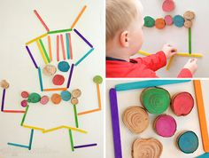 Magnet Madness! 3 DIY ways to play with a magnet board.  Homemade wooden magnets. Great ideas.  (Picklebums)