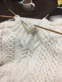 初めてのセーターで大変だった襟です^o^