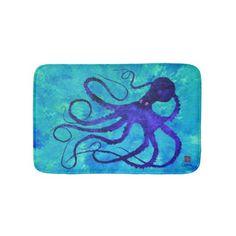 Sybille's Octopus - Small Bath Mat - bathroom idea ideas home & living diy cyo bath
