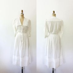 cotton lawn dress / vintage cotton dress / Victoria dress