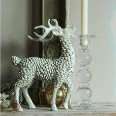 Silver bling reindeer, H28 x W20cm