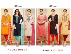 Dear  customer  Ladies designer suit collection   Dear  customer  Ladies designer suit collection  We are persenting new concept  Neck with handwork   Catlog------ Pooja queen  Fabrics----👚Glass cotton                     👖cotton                      🎽jaipuri print                            Najnin duppata    Des---------6 pcs   Rate - best selling price for  only full set  Call & whatup 📞 +91-9413880140  And see more collection of ladies suit,saree, kurti,lengha and other collections of…