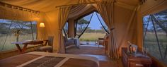 Naboisho Camp guest tent interior.