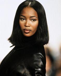 """aetsogard: "" Naomi Campbell at Hermès Fall "" This is it, this is the hair "" Top Models, Black Models, Female Models, Women Models, Irina Shayk, Black Girl Magic, Black Girls, Naomi Campbell 90s, Black Supermodels"