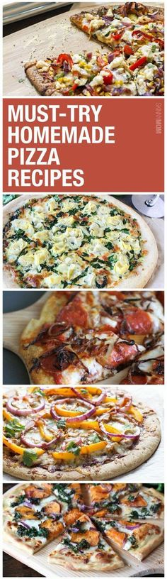 15 Healthy Homemade Pizza Recipes Healthy Recipes: These homemade pizzas will have your whole family's mouths watering! Which are you most excited to try? Healthy Homemade Pizza, Healthy Pizza, Healthy Eating, Paleo Pizza, Pizza Pizza, Pizza Dough, Healthy Food, Pizza Recipes, Dinner Recipes