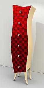 """birch dresser in red ~ precilla ~ artfulhome.com ~ 58""""h x 14""""w x 12"""" d ~ very hot"""