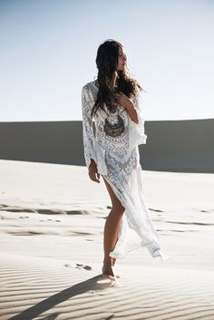 "White Dunes ✧ Gypsy Hues Spell & the Gypsy Collective ""White Dunes, Gypsy Hues"" May/June lookbook photography Johnny Abegg model Rachel Rutt hair Luciana Rose make up Ashlea Penfold"