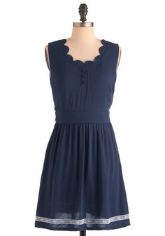 simple dinner dress via mod cloth (77.99)  @Mikko Pakarinen Horfilla shade of blue for your june wedding mikkao