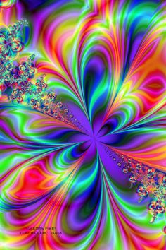 Beautiful Color Fractals- Abstract Mandala Paint By Numbers – Numeral Paint Butterfly Wallpaper, Colorful Wallpaper, Wallpaper Backgrounds, Neon Wallpaper, Art Fractal, Fractal Design, Kaleidoscope Art, Illusion Art, World Of Color