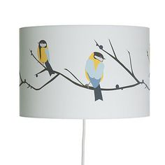 Juneberry And Bird Lampshade