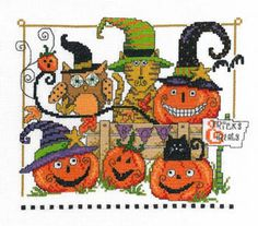 Boo Friends - Cross Stitch Pattern
