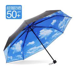 Unique Umbrellas | unique Umbrella super sun-shading anti-uv blue sky black upf50 rain ...