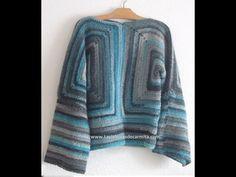 Como hacer Jersey Chaqueta crochet ganchillo paso a paso/ - YouTube