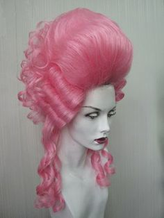 hot pink historical wigs - Google Search