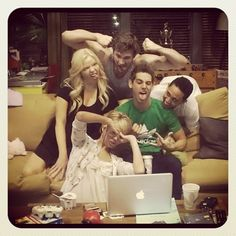 Chelsea Kane , Jean-Luc Bilodeau , Tahj Mowry , Melissa Peterson ,and Derek Thelr