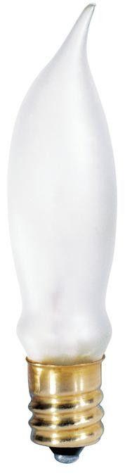 7-1/2 Watt CA5 Incandescent Light Bulb, 2300K Frost E12 (Candelabra) Base, 120 Volt, Box