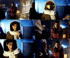 Amy: If you can make it all the way to Earth, why steal technology that could barely make it to the moon?  Eleven: Maybe 'cause it's cooler! Look how cool this stuff is!  Amy: Cool aliens?  Eleven: Well, what would you call me?  Amy: An alien.