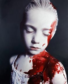 'The Disasters of War' by Gottfried Helnwein. Oil & acrylic on canvas.