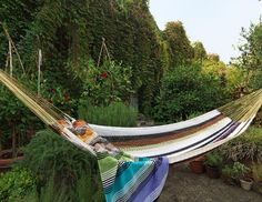 You should offer yourself an opportunity of lounging in a hammock. A hammock, indoor or outdoor, can make you forget your stress, frustration and relax for some time. Missoni, Garden Furniture, Outdoor Furniture, Outdoor Decor, Mayan Hammock, Double Hammock, Outdoor Entertaining, Home Goods, Home And Garden
