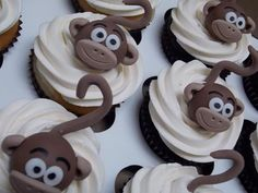 Monkey Cupcake Toppers …