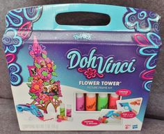 Description: Play Doh Doh Vinci Flower Tower Picture Frame Kit Squeeze And Design Ages 6 and Up/   Item ID: 37 TARGET