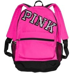 Pre-owned Pink PINK by Victoria's Secret Victoria Backpack ($84) ❤ liked on Polyvore featuring bags, backpacks, pink, rucksack bag, preowned bags, backpacks bags, pre owned bags and pink bag