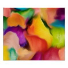 Abstract Roses flower paint