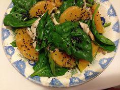 salada de espinafres e laranja - gluten free