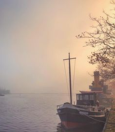 Let's go!  #wormerveer #wanderlust #boat #holland #dutch  #ipulledoverforthis #mistyfoggymilkymoody #mist_bestshots #mist_vision #sombrescapes #soft_vision #gloomgrabber #sombresociety #moodygrams #vzcomood #ig_mood #phototag_it by moniqueanrochte