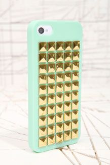 Mint Studded iPhone 4 Case/ I WANT!