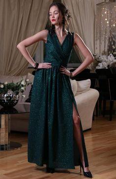 fc9cbdaace Roco 0224 sukienka zielona Przepiękna długa sukienka