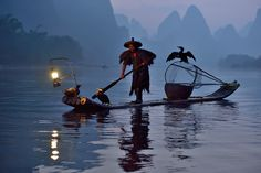Fisherman and his birds by Sugianto Suparman on 500px