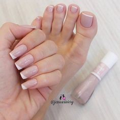 Discover new and inspirational nail art for your short nail designs. Simple Toe Nails, Cute Toe Nails, Toe Nail Color, Nail Colors, Toe Nail Designs, Acrylic Nail Designs, Pink Nails, My Nails, Acrylic Toe Nails