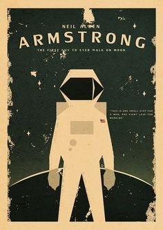 A TRIBUTE TO NEIL ARMSTRONG. by Zharif Safian, via Behance