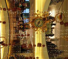 Christmas decor at Fortnum's