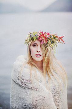 floral crown bridal / photo Ryan Flynn
