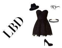 """""""LBD"""" by baby-bre ❤ liked on Polyvore featuring Forever 21, Humble Chic and Gucci"""