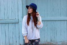 {Paisley Boho - Simply Audree Kate} Charlotte Russe Paisley Jumpsuit, Chunky Sweater, Balielf purse