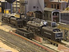 A coal tending facility on the New York Central. One of the most interesting aspects of the age of steam for model railroaders is capturing the maintenance facilities, switch yards and roundhouses.