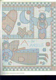 Schema punto croce Angel Lovers 02