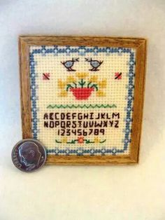 Cross stitch sampler by Lerryn. (Kit by Janet Granger )