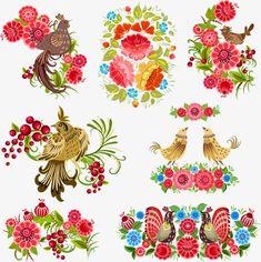 Vector Flower bird, Flower Bird, Birds, Cartoon Bird PNG and Vector