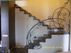 What interesting railings on this staircase!
